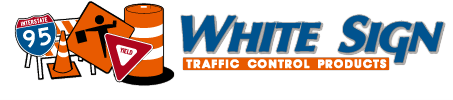 white sign logo
