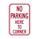R7-11 No Parking Here To Corner