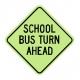 S3-4 School Bus Turn Ahead