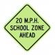 S4-5A XXX MPH School Zone Ahead
