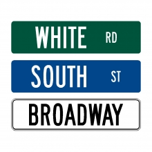 Street Name Signs (6'' Reflective)