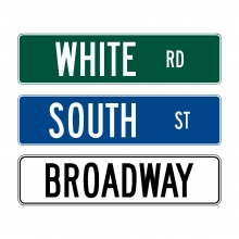 Street Name Signs (6'' High Intensity)