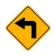 W1-1L Left Turn