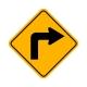 W1-1R Right Turn