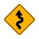 W1-5L Winding Road Left